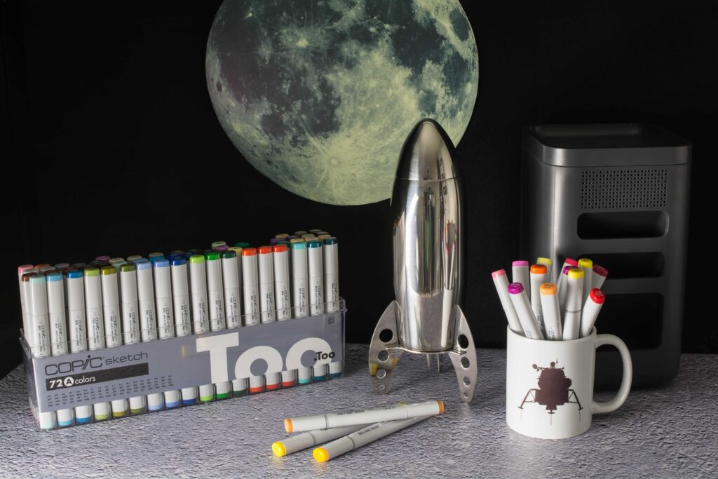Photograph of still life showing Copic Sketch Markers Set A.