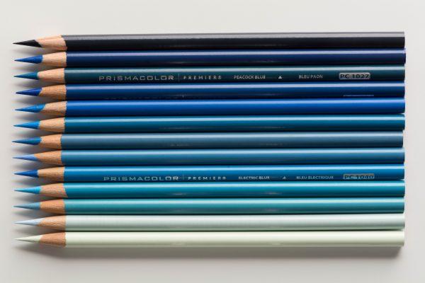 Photo of blue Prismacolor Premier Colored Pencils